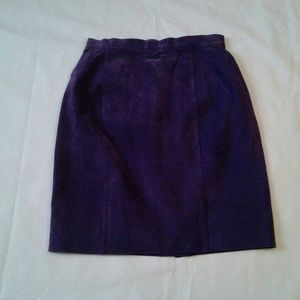 Purple Suede Skirt size 10